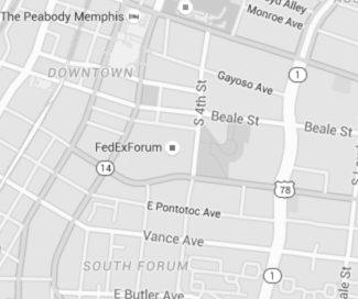 FedExForum map