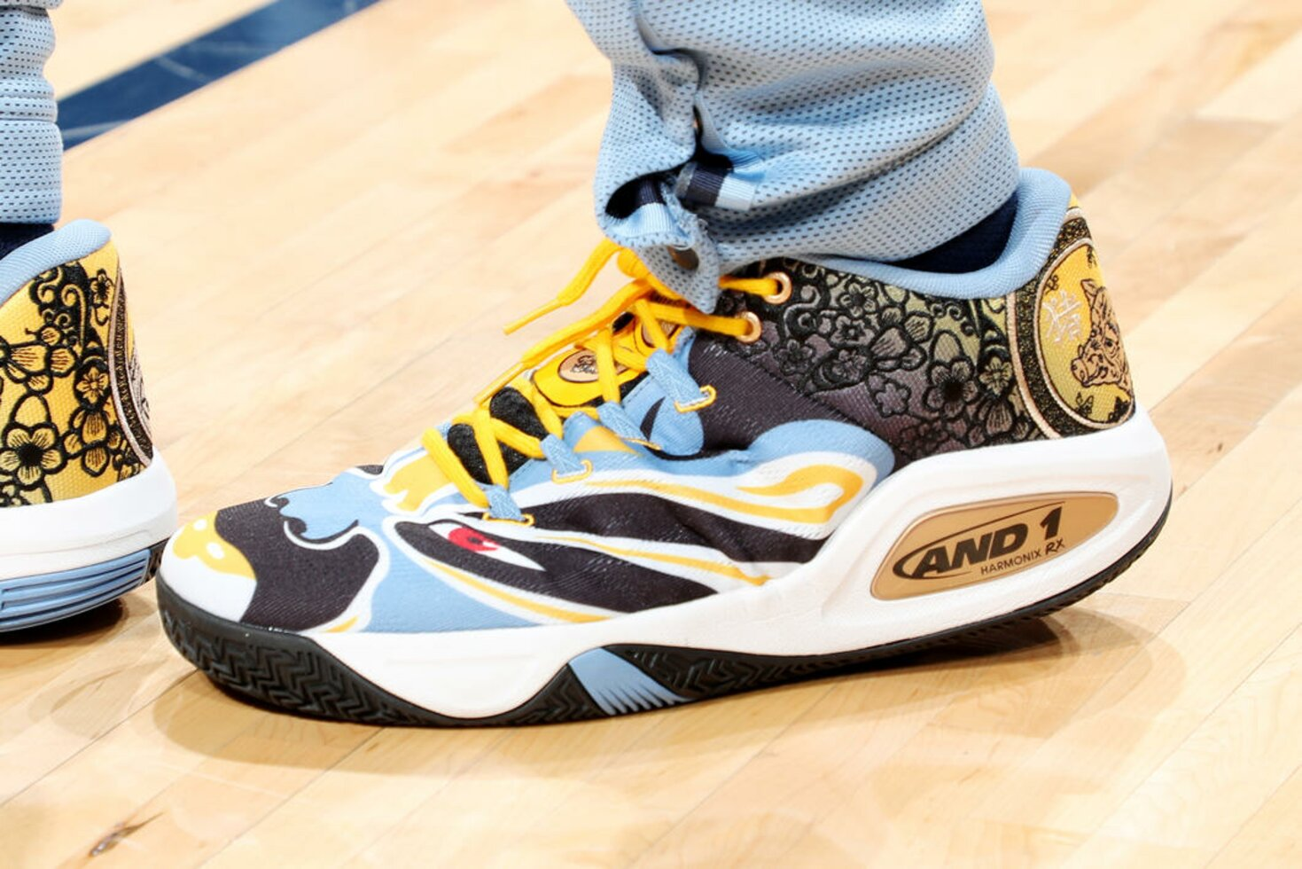 MEMPHIS, TN - JANUARY 26: The sneakers of Jevon Carter #3 of the Memphis Grizzlies are seen against the Indiana Pacers  on January 26, 2019 at FedExForum in Memphis, Tennessee.