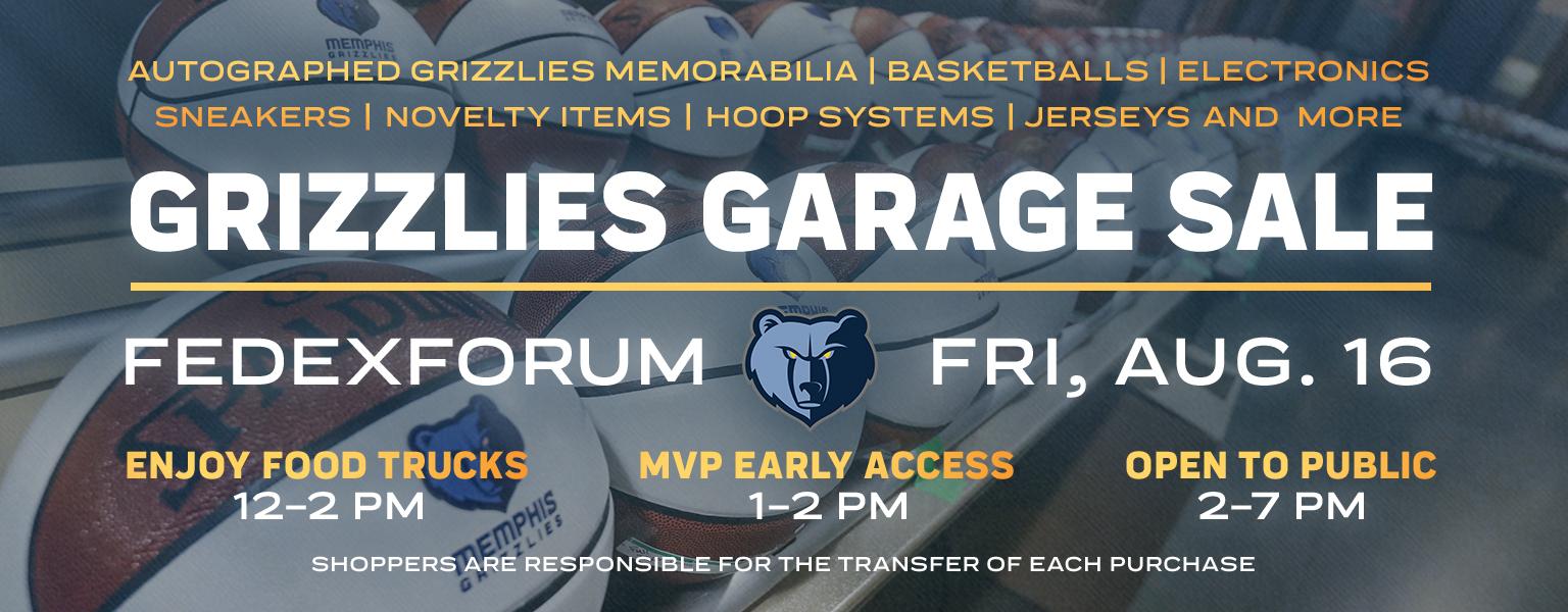 Grizzlies Garage Sale