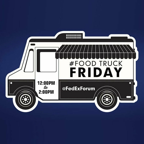 Memphis Grizzlies to host Food Truck Friday on the FedExForum plaza tomorrow, june 21 from 12 – 2 p.m.