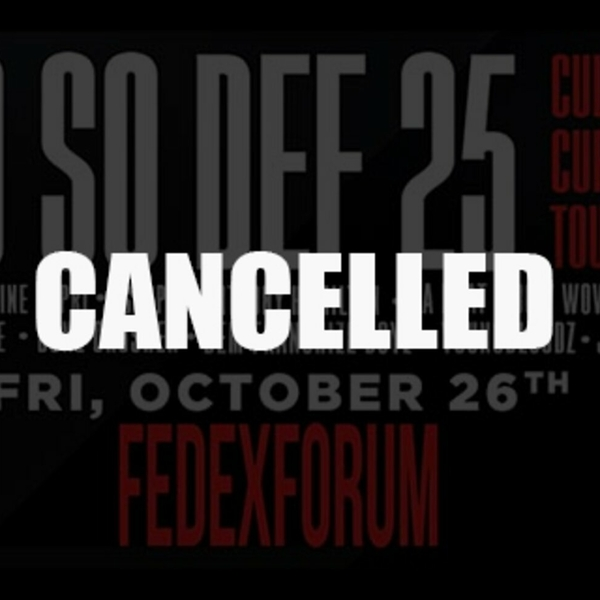 JERMAINE DUPRI AND SO SO DEF 25TH ANNIVERSARY CULTURAL CURREN$Y TOUR CANCELLED